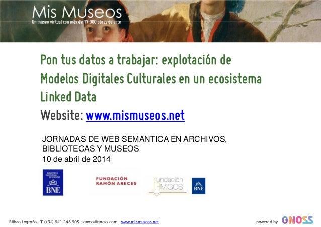 Pon tus datos a trabajar: explotación de Modelos Digitales Culturales en un ecosistemaModelos Digitales Culturales en un e...