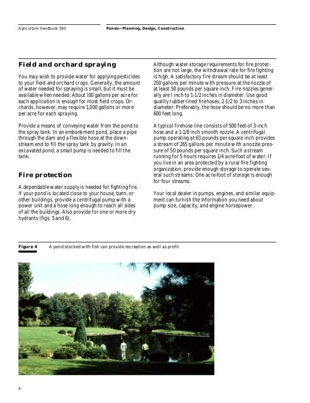 Pond building for farms livestock for Minimum depth for koi pond