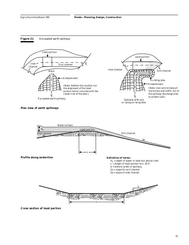 Pond building for farms livestock for Design of pond embankment