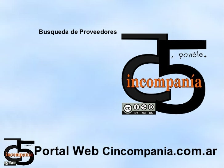 Busqueda de ProveedoresPortal Web Cincompania.com.ar