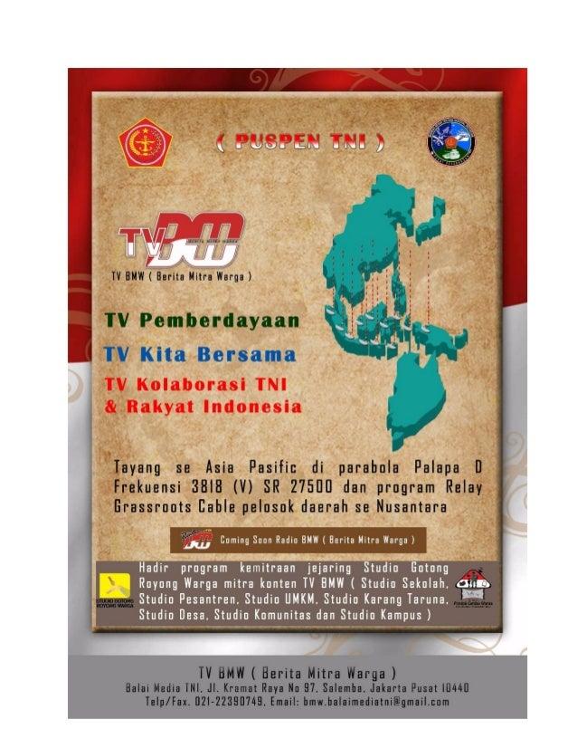 Pondok Cerdas Warga inisiatif TV BMW (Berita Mitra Warga)Puspen TNI
