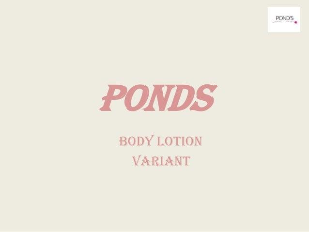 PONDS BODY LOTION VARIANT