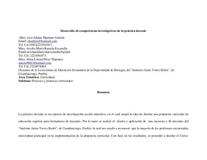 SECRETARÍA DE EDUCACIÓN PÚBLICA SUBSECRETARÍA DE EDUCACIÓN SUPERIOR DIRECCIÓN GENERAL DE FORMACIÓN Y DESARROLLO DE DOCENTE...