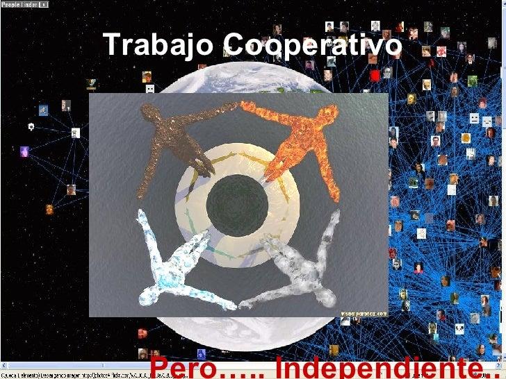 Trabajo Cooperativo Pero….. Independiente..