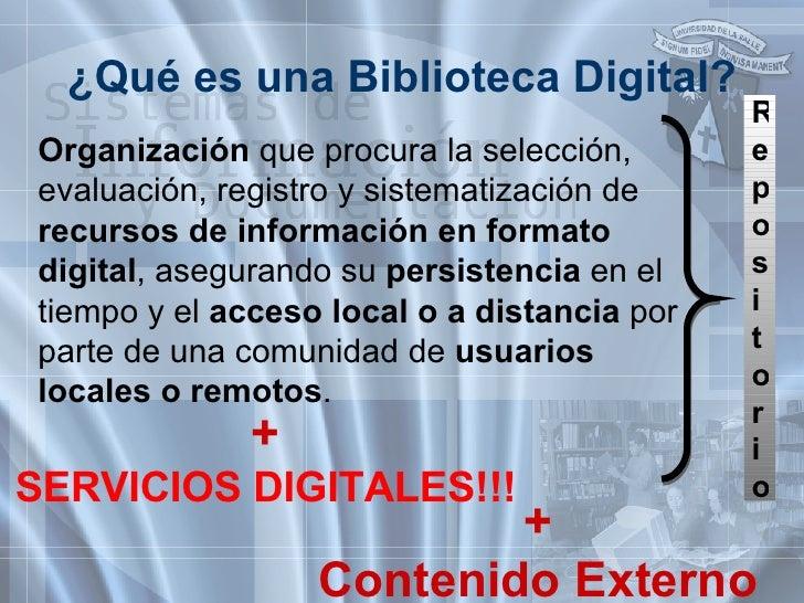 <ul><li>Organización  que procura la selección, evaluación, registro y sistematización de  recursos de información en form...