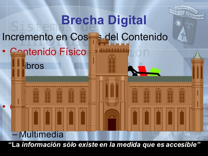 <ul><li>Incremento en Costos del Contenido </li></ul><ul><li>Contenido Físico </li></ul><ul><ul><li>Libros </li></ul></ul>...