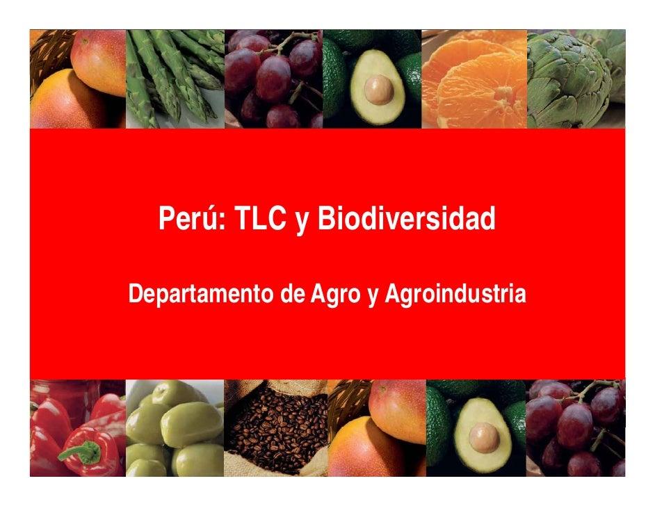 Perú: TLC y BiodiversidadDepartamento de Agro y Agroindustria