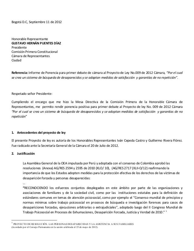 Bogotá D.C, Septiembre 11 de 2012    Honorable Representante  GUSTAVO HERNÁN PUENTES DÍAZ Presidente C...