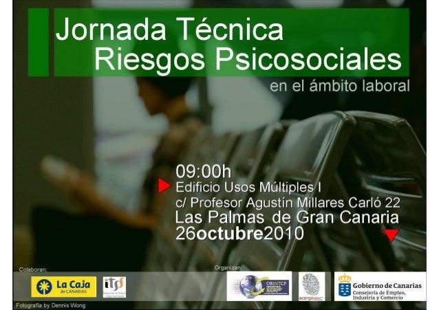 Jorge Ribes Febles Presidente de la Asociación Canaria de Ergonomía y Psicosociología, ACERGO La evaluaciLa evaluacióón de...