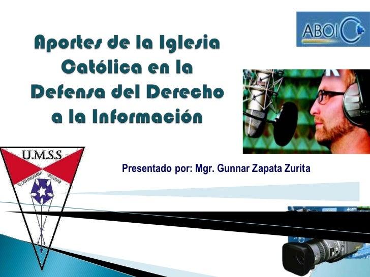 Presentado por: Mgr. Gunnar Zapata Zurita