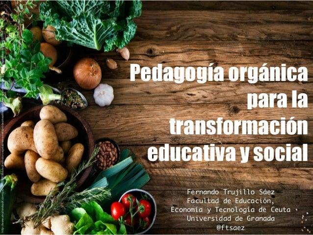Pedagogía orgánica para la transformación educativa y social Fernando Trujillo Sáez Facultad de Educación, Economía y Tecn...