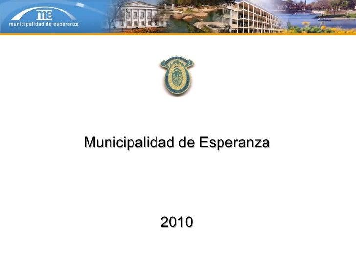 Municipalidad de Esperanza 2010