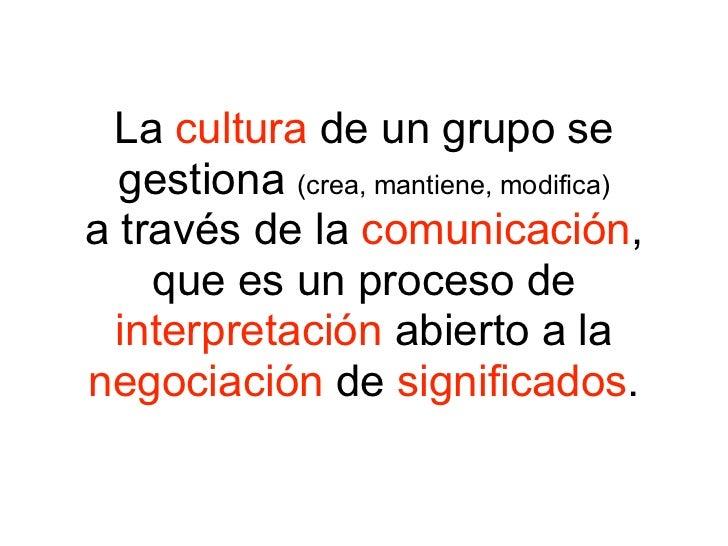 De la cultura subjetiva a la cultura colectiva