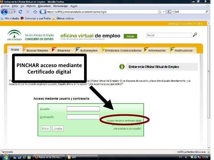 Ponencia certificado digital andalucia orienta for Oficina certificado digital