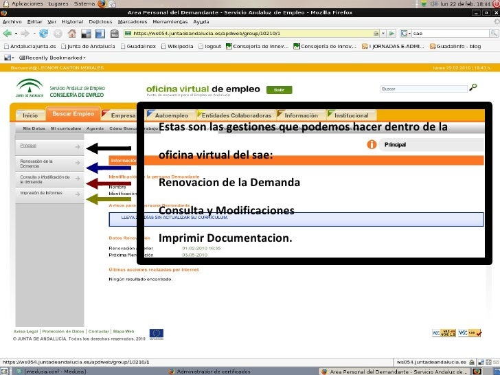 Ponencia certificado digital andalucia orienta for Renovar demanda de empleo con certificado digital