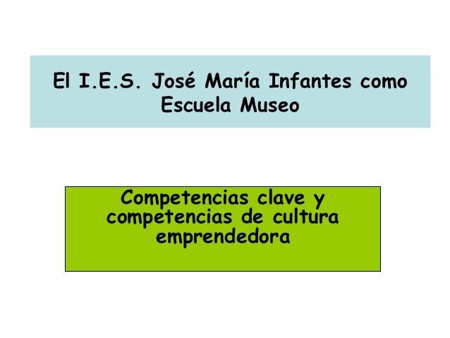 El I.E.S. José María Infantes como Escuela Museo Competencias clave y competencias de cultura emprendedora