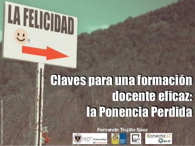 Claves para una formación docente eficaz: la Ponencia Perdida Fernando Trujillo Sáez https://unsplash.com/photos/WB90k1aui...
