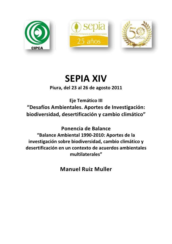 """SEPIAXIV          Piura,del23al26deagosto2011                                               EjeTemáticoIII""""D..."""