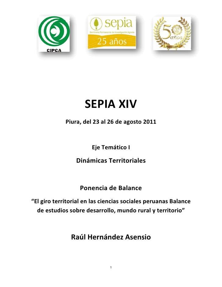 SEPIAXIV             Piura,del23al26deagosto2011                                                      EjeTemát...