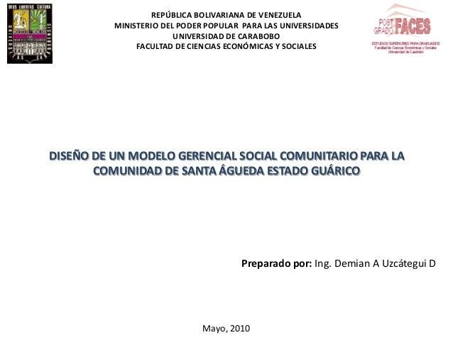 REPÚBLICA BOLIVARIANA DE VENEZUELA MINISTERIO DEL PODER POPULAR PARA LAS UNIVERSIDADES UNIVERSIDAD DE CARABOBO FACULTAD DE...