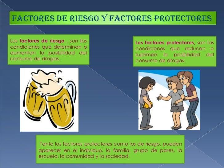 FACTORES DE RIESGO Y FACTORES PROTECTORES<br />Los factores de riesgo , son las condiciones que determinan o aumentan la p...