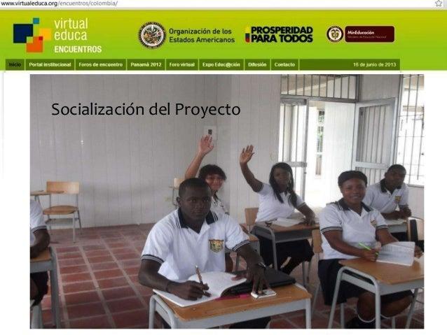 Pensando, pensando mi comportamiento voy mejorando Virtual educa Medellín Colombia XIV Encuentro Internacional  Escribiend...