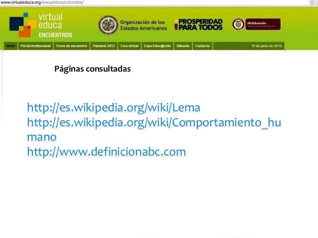 Pensando, pensando mi comportamiento voy mejorando Virtual educa Medellín Colombia XIV Encuentro Internacional  Páginas en...