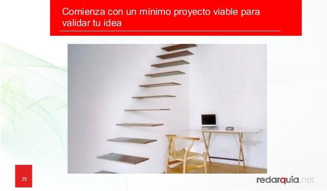 29 29 Comienza con un mínimo proyecto viable para validar tu idea