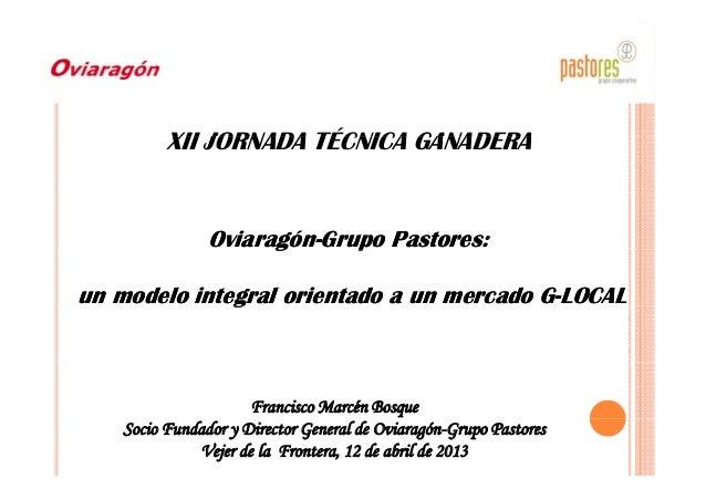 XII JORNADA TÉCNICA GANADERAXII JORNADA TÉCNICA GANADERA OviaragónOviaragón--Grupo Pastores:Grupo Pastores:gg pp un modelo...