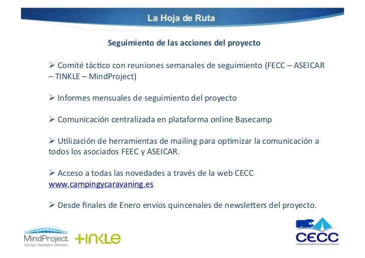 La Hoja de Ruta                          Seguimiento de las acciones del proyecto  Comité tác@co con ...