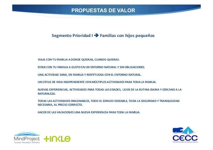 PROPUESTAS DE VALOR              Segmento Prioridad I  Familias con hijos pequeños  VIAJA CON TU ...