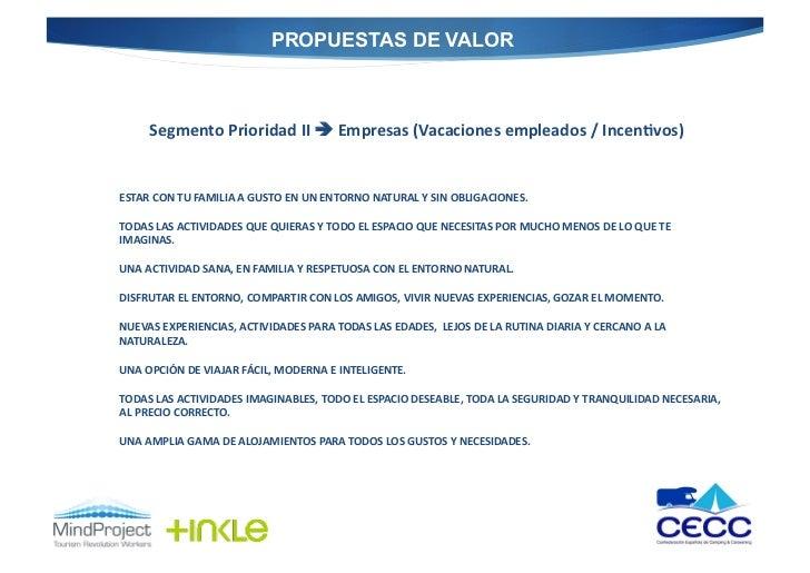 PROPUESTAS DE VALOR        Segmento Prioridad II  Empresas (Vacaciones empleados / Incendvos)  ESTAR...