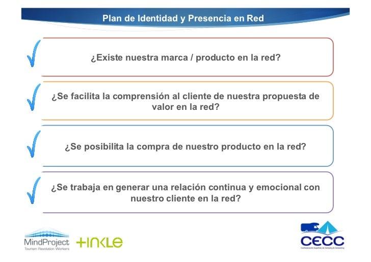 Plan de Identidad y Presencia en Red         ¿Existe nuestra marca / producto en la red?¿Se facilita la comprensión al cli...