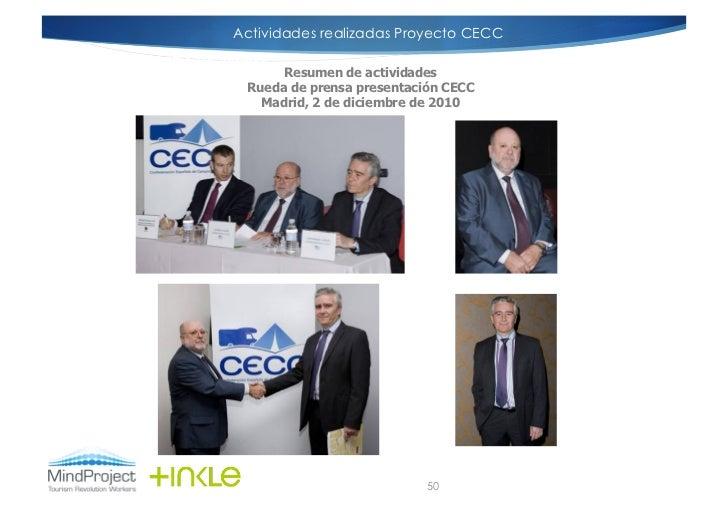 Actividades realizadas Proyecto CECCIMÁGENES RUEDA DE PRENSA                          Resumen de actividades              ...