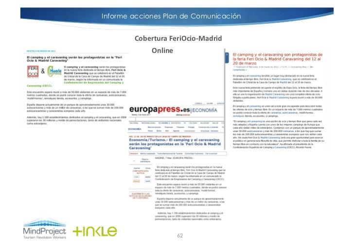 Informe acciones Plan de Comunicación        Cobertura FeriOcio-‐Madrid               Online                       ...