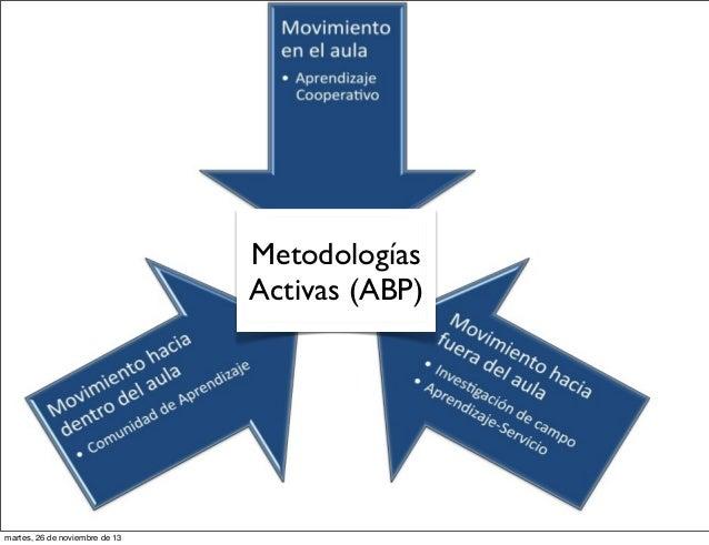 Metodologías Activas (ABP)  martes, 26 de noviembre de 13