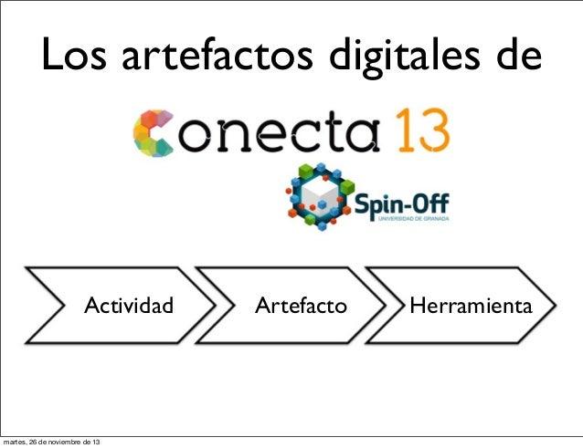 Los artefactos digitales de  Actividad  martes, 26 de noviembre de 13  Artefacto  Herramienta