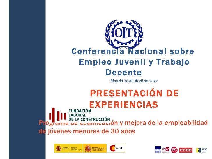 Conferencia Nacional sobre               Empleo Juvenil y Trabajo                     Decente              ...