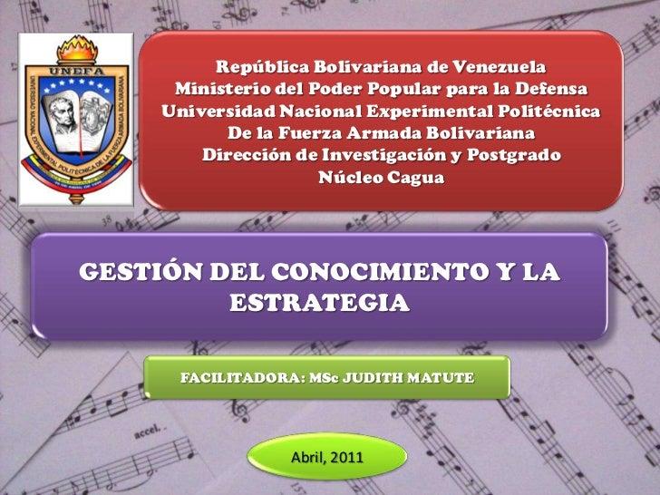 República Bolivariana de Venezuela     Ministerio del Poder Popular para la Defensa    Universidad Nacional Experimental P...