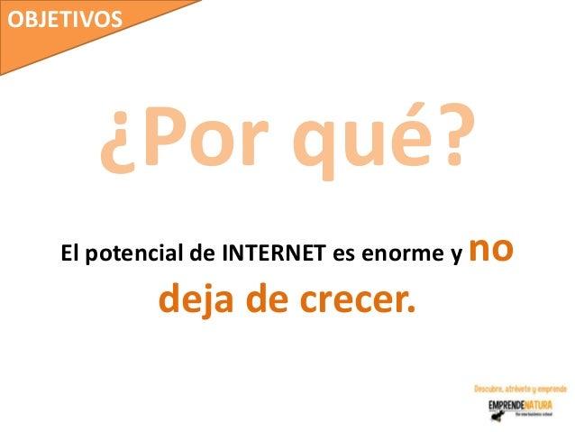OBJETIVOS       ¿Por qué?    El potencial de INTERNET es enorme y   no            deja de crecer.