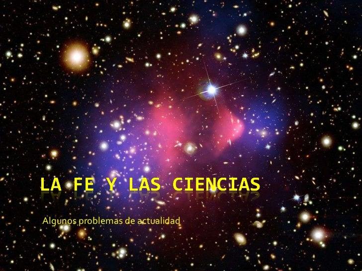 La fe y las ciencias