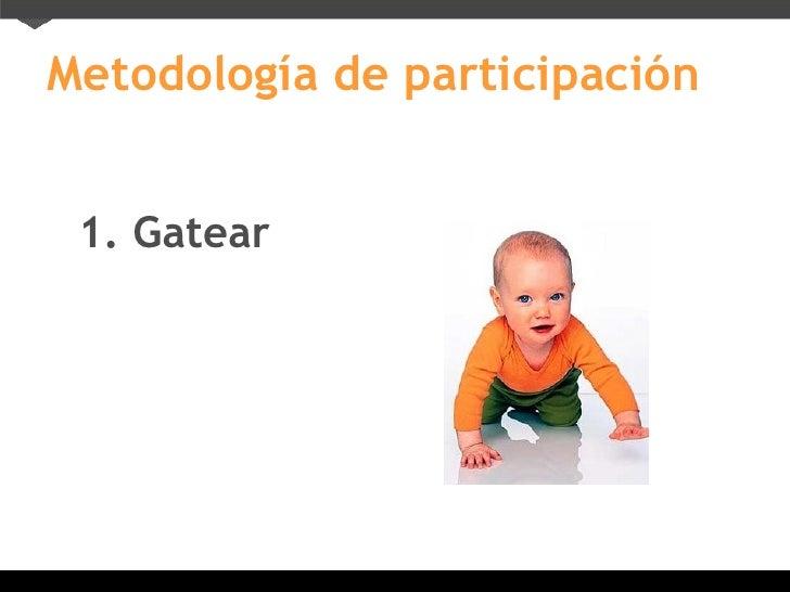 Metodología de participación 1. Gatear