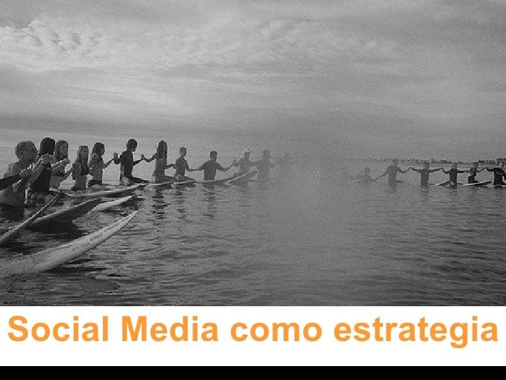 Social Media como estrategia
