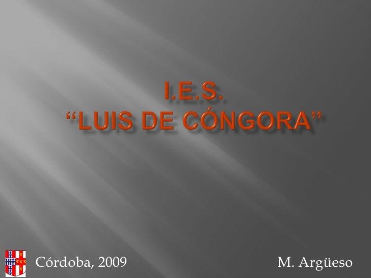 Córdoba, 2009  M. Argüeso