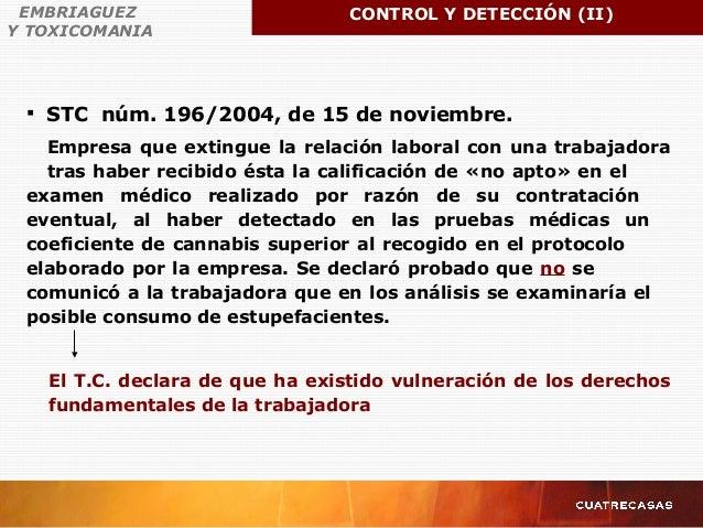  STC núm. 196/2004, de 15 de noviembre. Empresa que extingue la relación laboral con una trabajadora tras haber recibido ...
