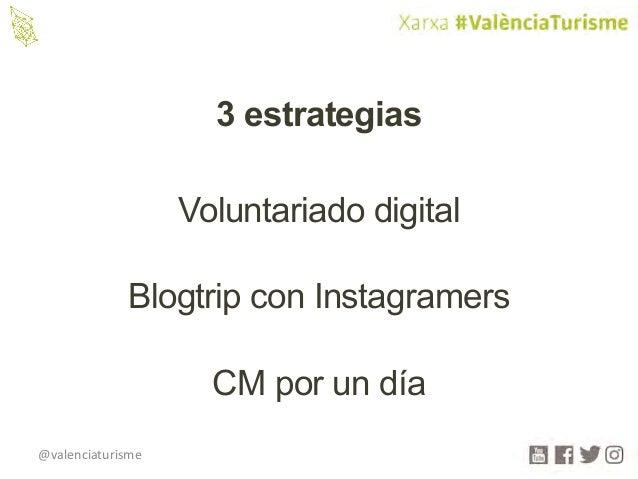 @valenciaturisme Voluntariado digital Blogtrip con Instagramers CM por un día 3 estrategias