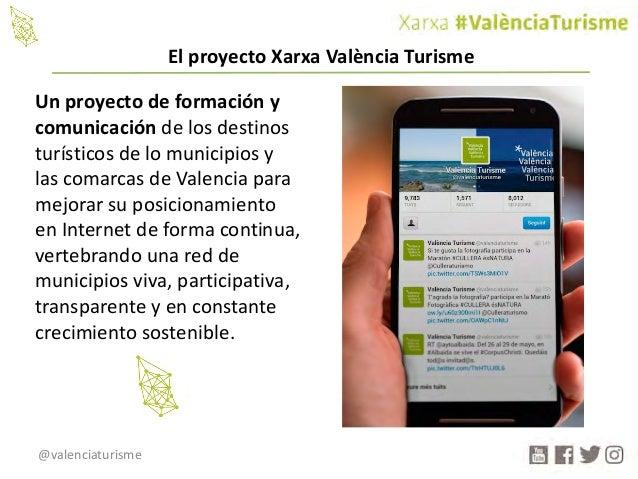 @valenciaturisme Unproyectodeformacióny comunicacióndelosdestinos turísticosdelomunicipiosy lascomarcasde...