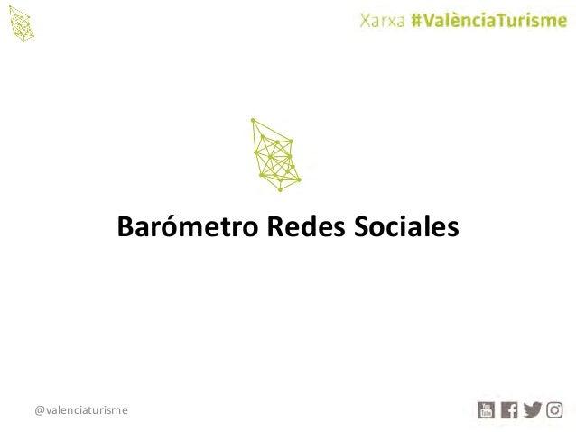 @valenciaturisme BarómetroRedesSociales