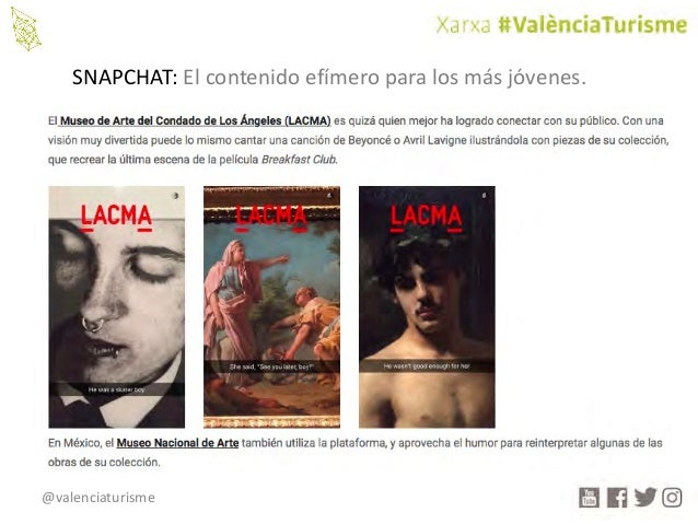 @valenciaturisme SNAPCHAT:Elcontenidoefímeroparalosmásjóvenes.