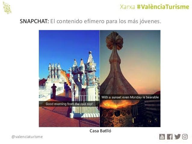 @valenciaturisme SNAPCHAT:Elcontenidoefímeroparalosmásjóvenes. CasaBatlló